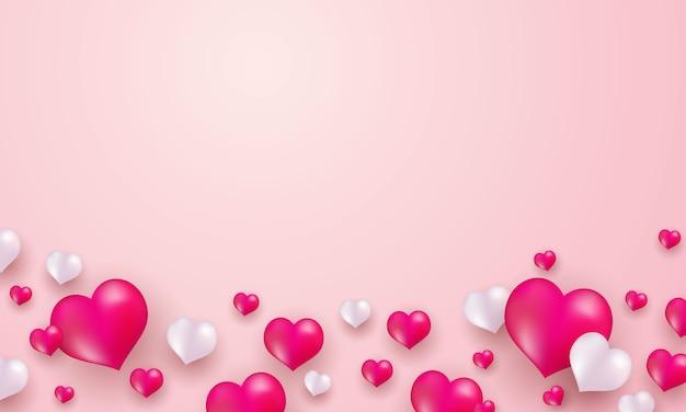 Cuore rosso su uno sfondo rosa