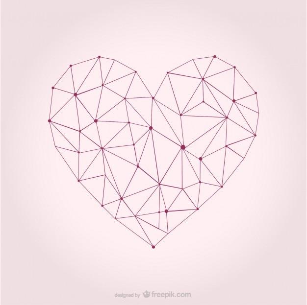 Cuore vettoriale disegno geometrico