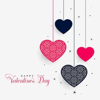 Cuori adorabili del giorno di san valentino