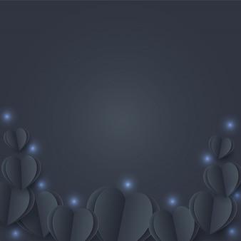 Cuori neri su sfondo scuro