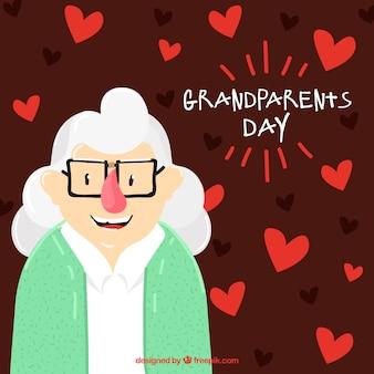 Cuori sfondo con la granny