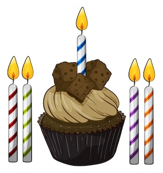 Cupcake e candele