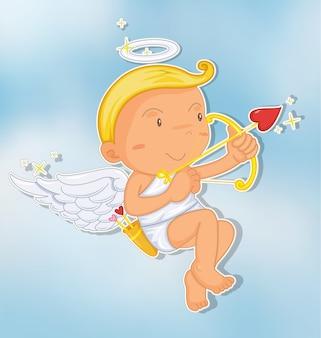 Cupido con arco e freccia