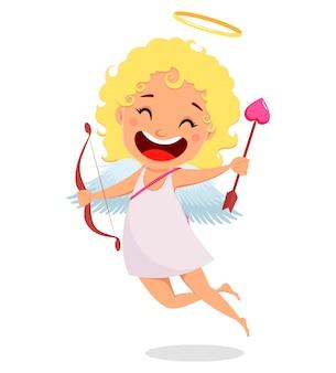 Cupido detiene arco e freccia d'amore