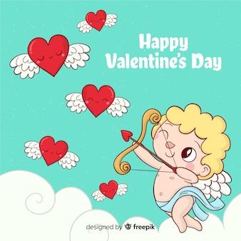 Cupido san valentino sullo sfondo