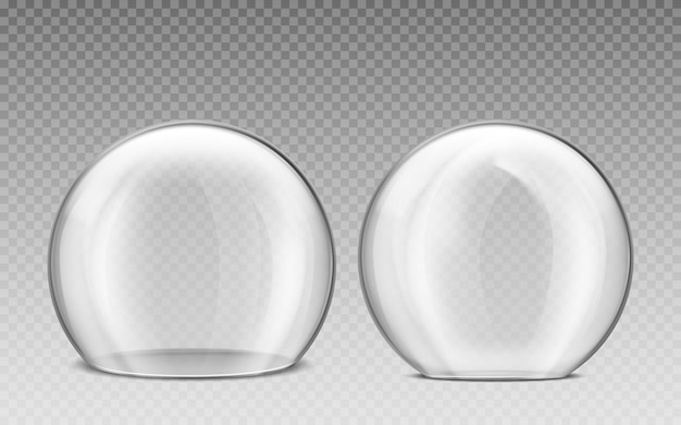 Cupola di vetro, sfera di plastica trasparente