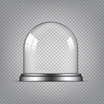Cupola di vetro trasparente realistica