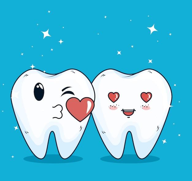 Cura dei denti con trattamento di medicina dell'igiene