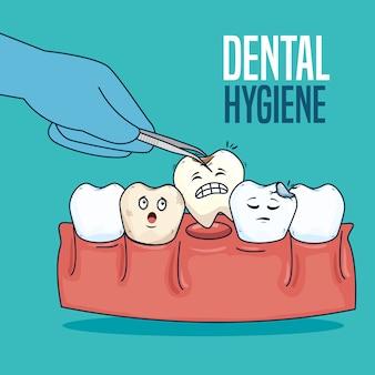 Cura dei denti e trattamento con estrattore dentale