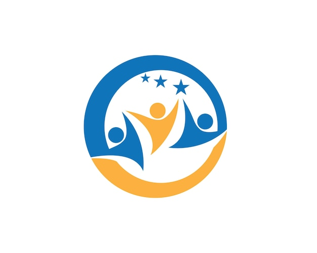 Cura della comunità logo template