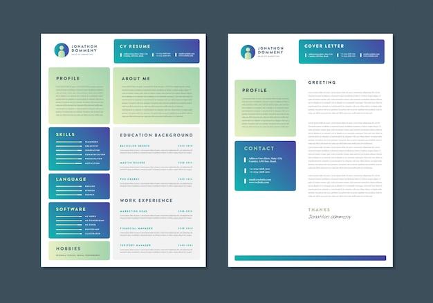 Curriculum vitae cv riprendi template design