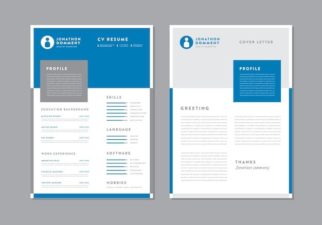 Curriculum vitae progettazione del modello di curriculum cv dettagli personali per la domanda di lavoro