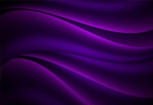 Curva astratta viola e sfondo ondulato