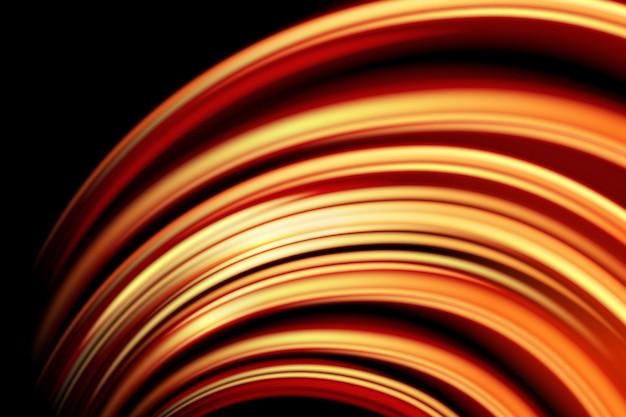 Curva di luce effetto incandescente sfondo nero