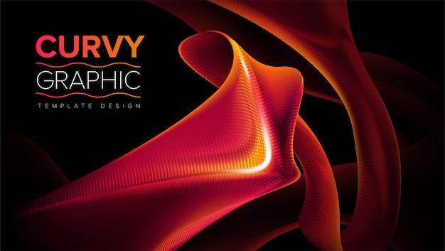 Curvy stripes template design