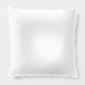 Cuscino bianco isolato con ombra