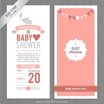 Cute baby doccia invito