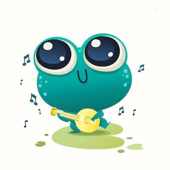 Cute baby illustrazione di rana