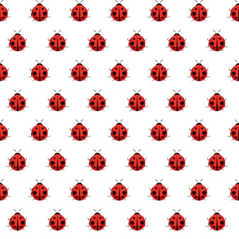 Cute ladybug seamless pattern per carta da parati
