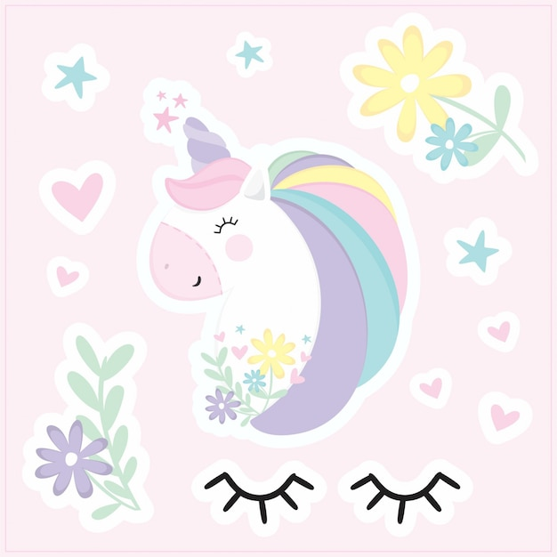 Cute unicorn stickers