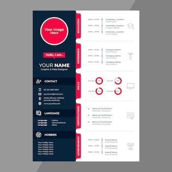 Cv / riprende la progettazione con icone di linea
