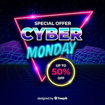 Cyber futuristico vintage lunedì