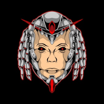 Cyber head umano