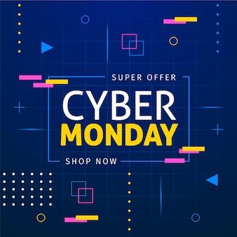 Cyber lunedì concetto in design piatto