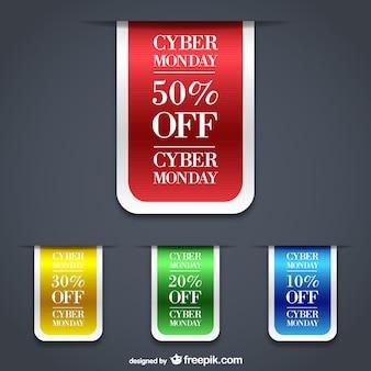 Cyber lunedì etichette di vendita