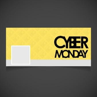 Cyber lunedi giallo facebook timeline banner