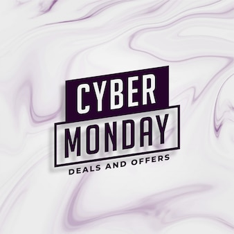 Cyber lunedì offerte eleganti e design banner