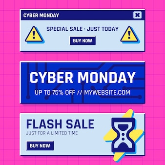 Cyber ​​monday banners