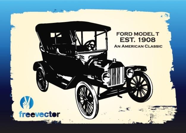 D'epoca ford auto gratuito vettore