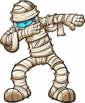 Dabbing cartoon mummy