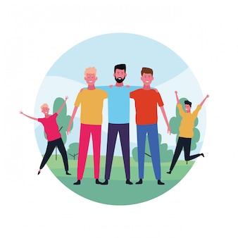 Dancing people avatar
