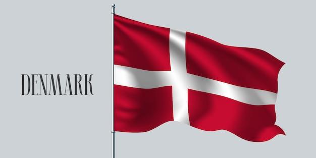 Danimarca sventolando bandiera