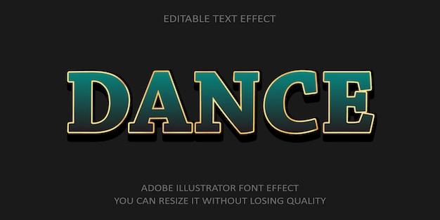Danza effetto font testo
