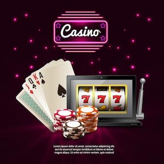 Dark casino composizione realistica