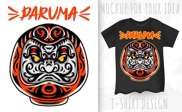 Daruma è una bambola di divinità giapponese. elemento di design