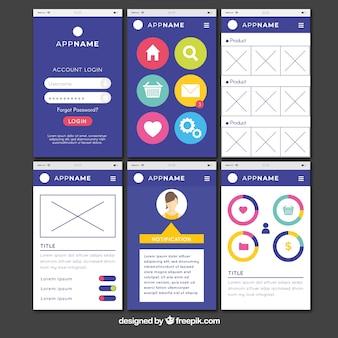 Dashboard dell'app di amministrazione in stile piatto