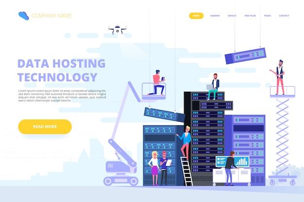 Data center e hosting. database internet di rete