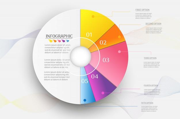 Data infographic luogo di opzioni di affari per la presentazione