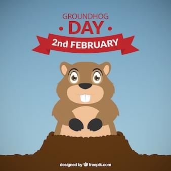 Day background groundhog