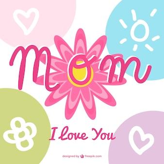 Day design calligrafia della madre
