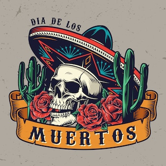 Day of the dead concetto vintage