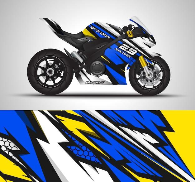 Decalcomania dell'involucro del motociclo e illustrazione dell'autoadesivo del vinile.