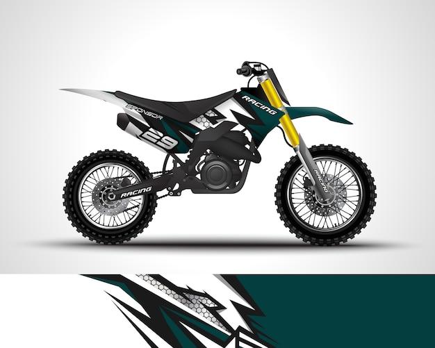 Decalcomania dell'involucro di motocross e illustrazione dell'autoadesivo del vinile.