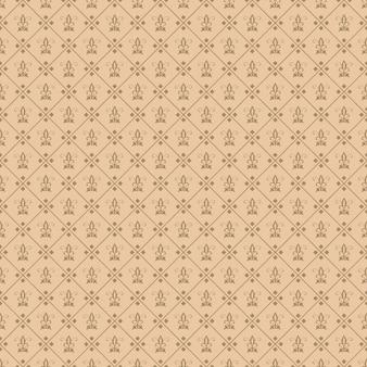 Decorative fleur de lis seamless tile carta da parati