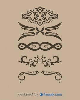 Decorativi vintage collection divisori di testo