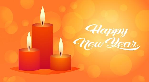 Decorativo candela rossa icona buon anno buon natale decorazione vacanza auguri piatta